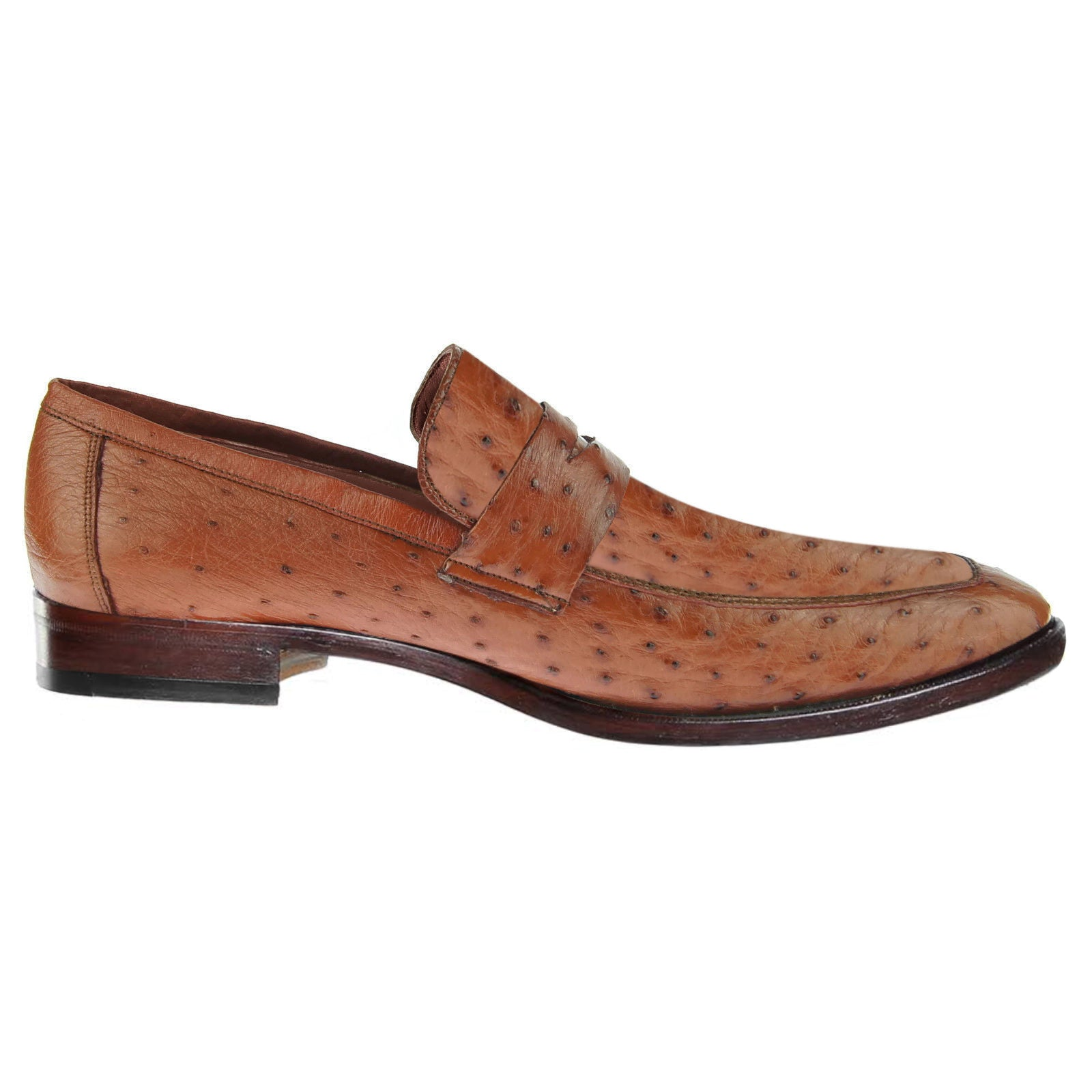 Johny Weber Loafers In Brown  Ostrich Leather