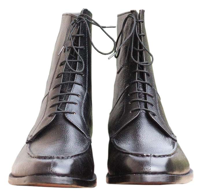 Johny Weber Handmade Black Leather Men Chukka Boot - Johny Weber