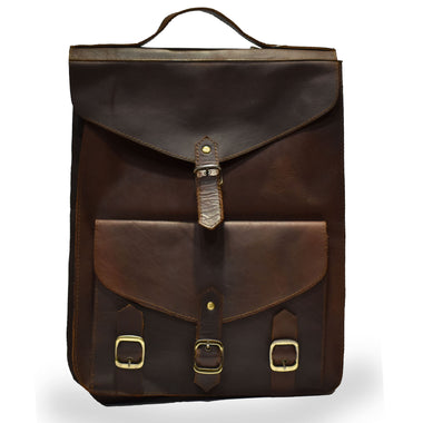 Johny Weber Handmade Flap-Over Antique Leather Backpack - Johny Weber