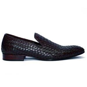 Johny Weber Handmade Knitted Black-Brown Loafers - Johny Weber