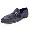 Johny Weber Handmade Black Ostrich Leather Loafers
