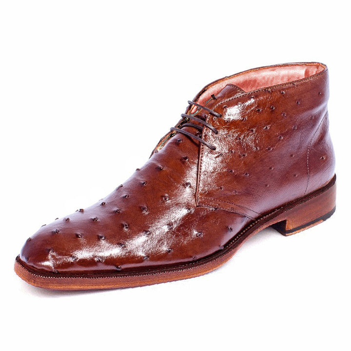 Johny Weber Handmade Red Ostrich Leather Chukka Boot