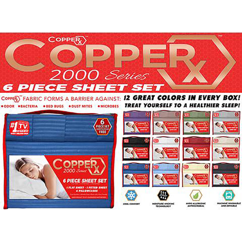 COPPERX 2000 Series 6 Piece Sheet Set