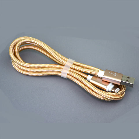 Nylon Braided USB Cable - Micro USB or Lightning