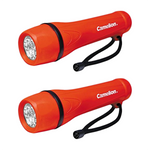 Red Rubber Flashlight 2 Pack