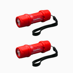 1 LED Rubber Pocket Flashlight 2 Pack