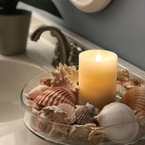 Solaré Distressed 3D Virtual Flame 3x5 Wax Candle
