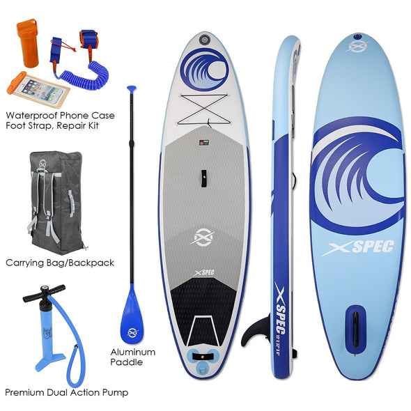 "[product_tag] , Xspec Inflatable Stand Up Paddle Board 10' X 32"" X 6"" Universal SUP Wide Stance - Crosslinks"