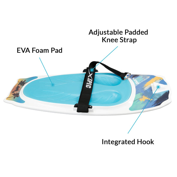 Xspec Kneeboard for Knee Surfing Boating Waterboarding, White (CL_CRS806403) - Alt Image 1