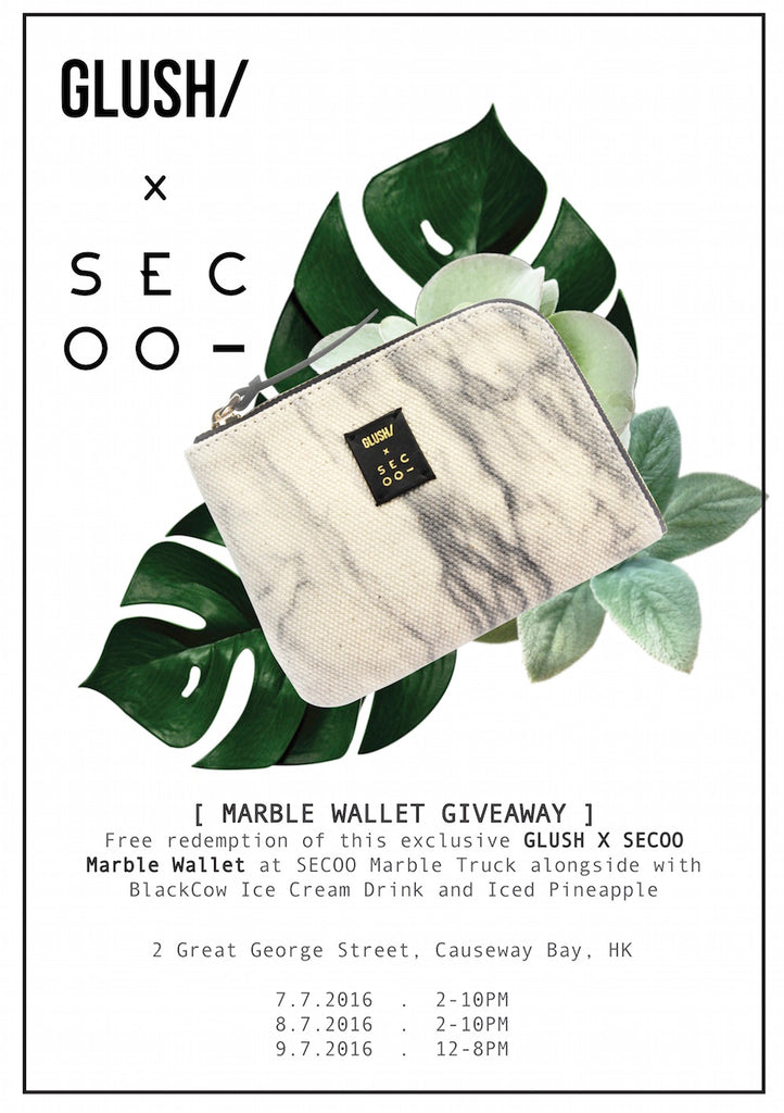GLUSH/ X SECOO Marble Wallet Giveaway