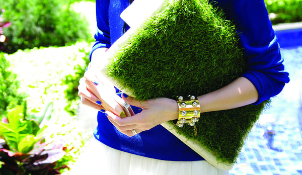 GRASSY LARGE CLUTCH / LAPTOP & DOCUMENT HOLDER - GLUSH/ - 7