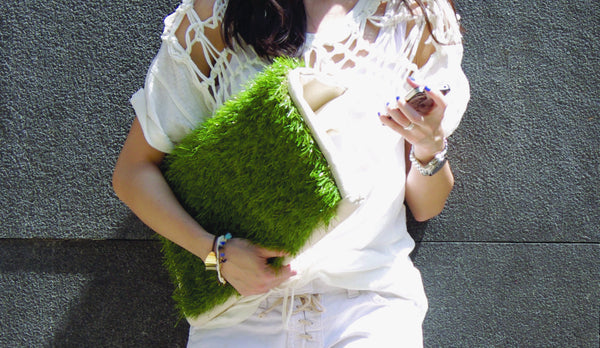GRASSY LARGE CLUTCH / LAPTOP & DOCUMENT HOLDER - GLUSH/ - 6