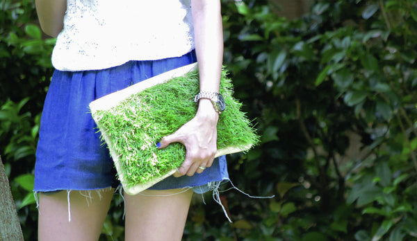 GRASSY SMALL ZIP CLUTCH - GLUSH/ - 9