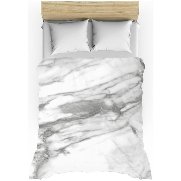 Hard Rays White Marble Duvet Cover - GLUSH/ - 3