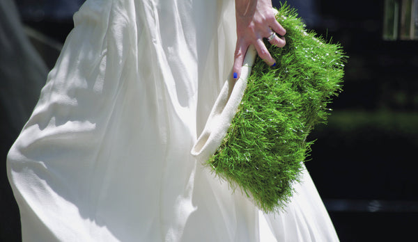 GRASSY SMALL ZIP CLUTCH - GLUSH/ - 7