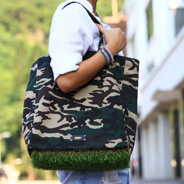 CAMO GRASSY Tote + GRASSY Luggage Tag Set - GLUSH/ - 7