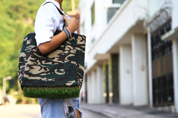 [ LIMITED EDITION ] Camo Grassy Tote - GLUSH/ - 9