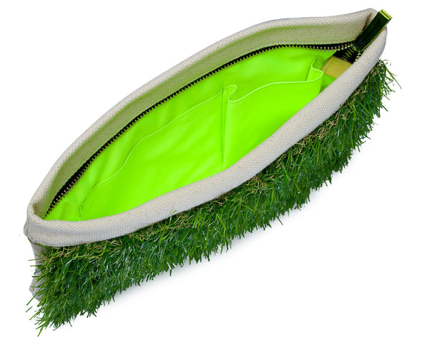 GRASSY SMALL ZIP CLUTCH - GLUSH/ - 3