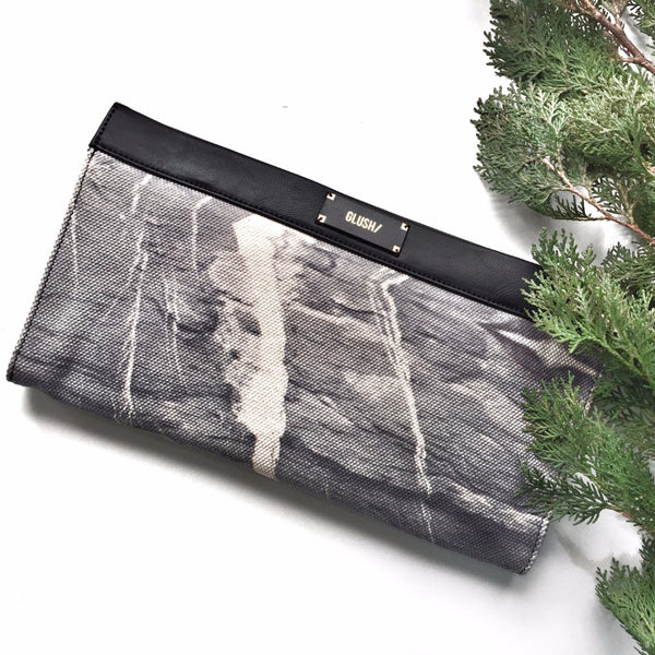 HARD RAYS Grey Sleek Clutch - GLUSH/ - 4