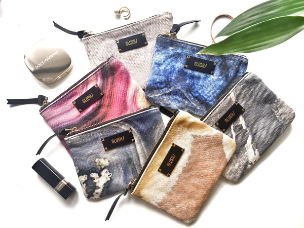 Colourful pouches to keep your handbag organised
