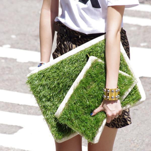 GRASSY SMALL ZIP CLUTCH - GLUSH/ - 5