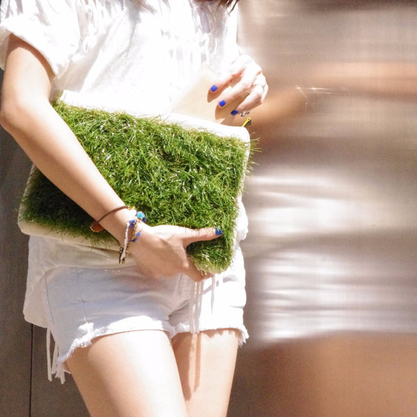 GRASSY SMALL ZIP CLUTCH - GLUSH/ - 6