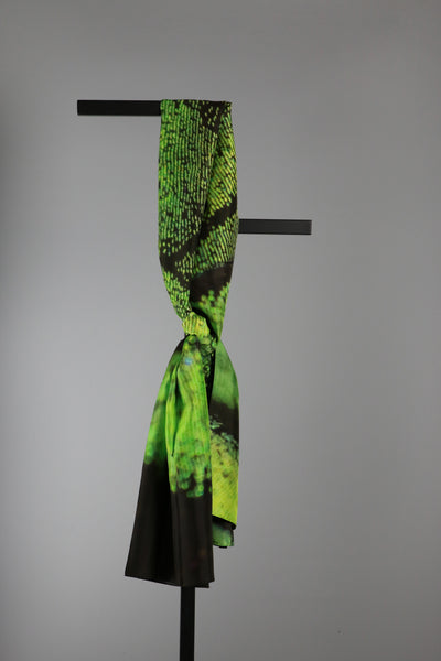 Rectangular Silk Scarf - Green Dragonfly
