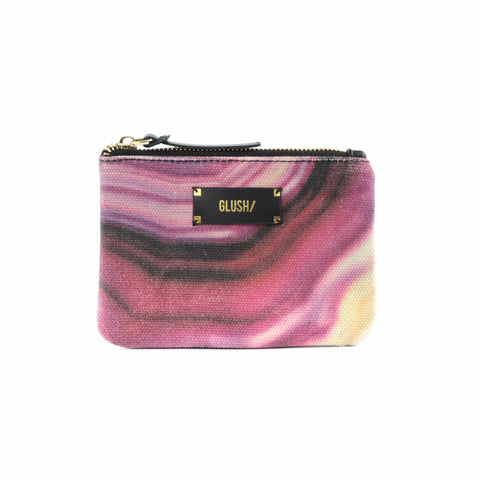 Pink swirly pouch by GLUSH