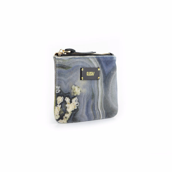 HARD SWIRLS Grey Stone Pouch - GLUSH/ - 2