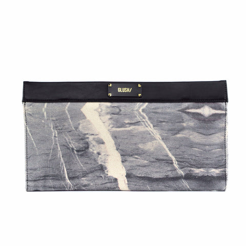 Grey Marble Sleek Clutch bag by GLUSH/