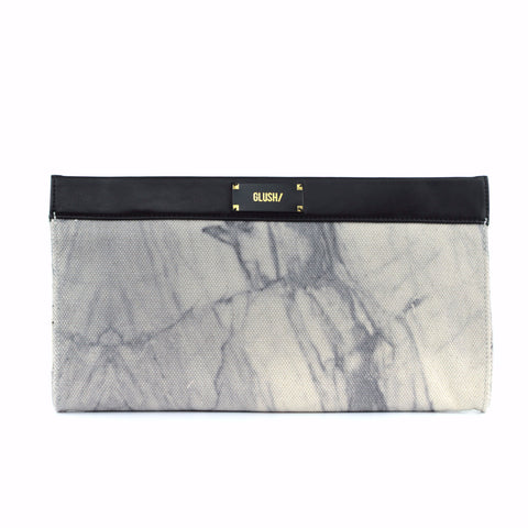 HARD RAYS White Sleek Clutch - GLUSH/ - 1