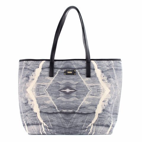 GREY MARBLE TOTE BAG - GLUSH/ - 1