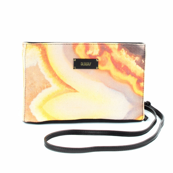 Orange Agate Stone Crossbody Bag - GLUSH/ - 1