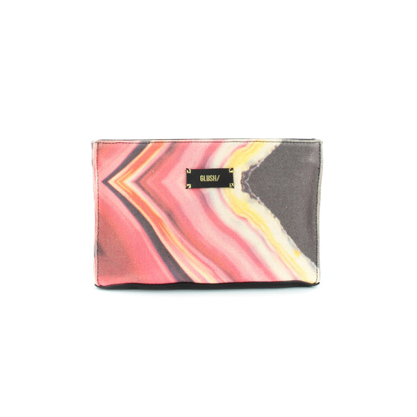 Pink clutch with optional strap by GLUSH