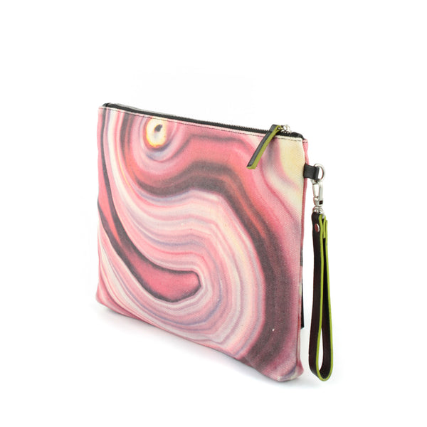 HARD SWIRLS Pink Stone Clutch - GLUSH/ - 2