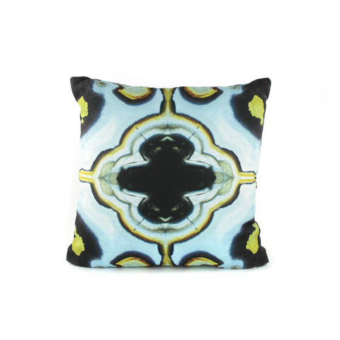 blue agate stone pattern pillow case by GLUSH/