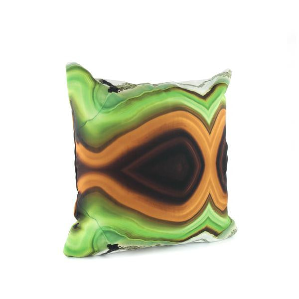 HARD SWIRLS GREEN Pillow Case + Throw Blanket Set - GLUSH/ - 3
