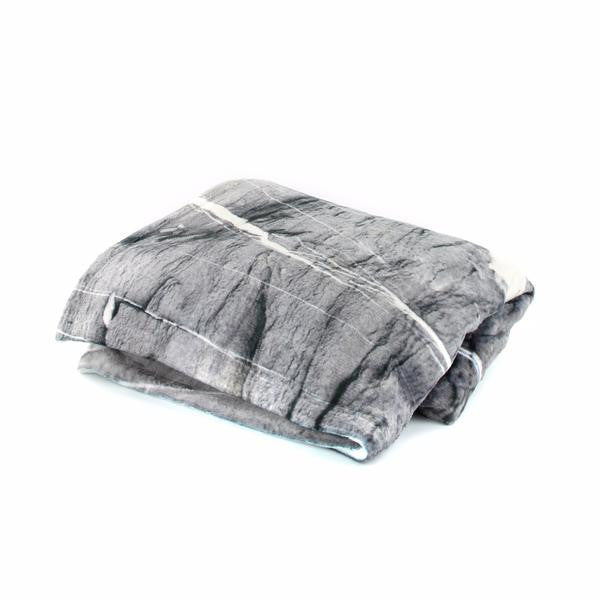 HARD RAYS GREY Pillow Case + Throw Blanket Set - GLUSH/ - 4