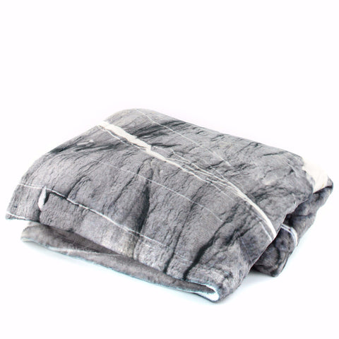 GREY MARBLE THROW BLANKET for your stylish home - GLUSH/ - 1