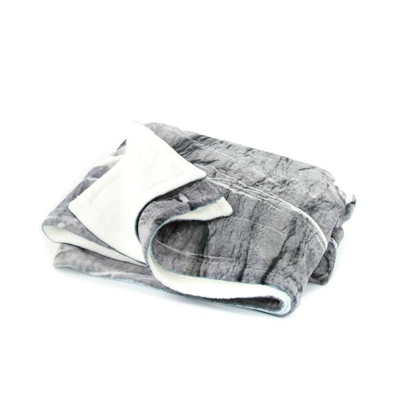 HARD RAYS GREY Pillow Case + Throw Blanket Set - GLUSH/ - 5