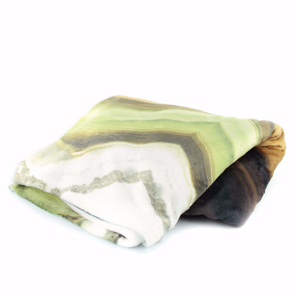 GREEN AGATE STONE THROW BLANKET - GLUSH/ - 1