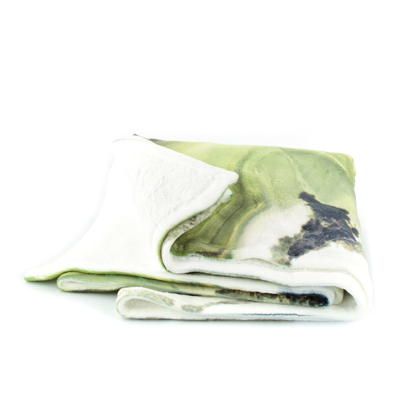 HARD SWIRLS GREEN THROW BLANKET - GLUSH/ - 2