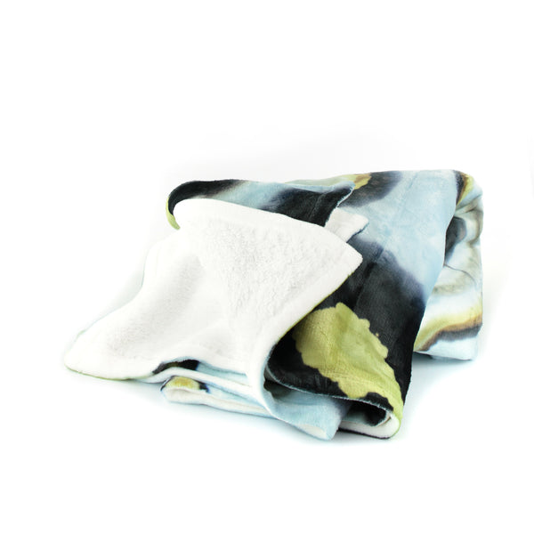 HARD SWIRLS BLUE THROW BLANKET - GLUSH/ - 2