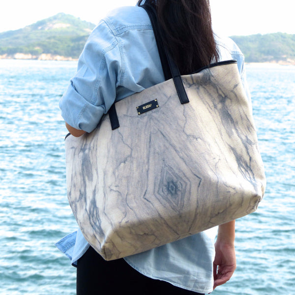 White Marble Yoga bag by GLUSH