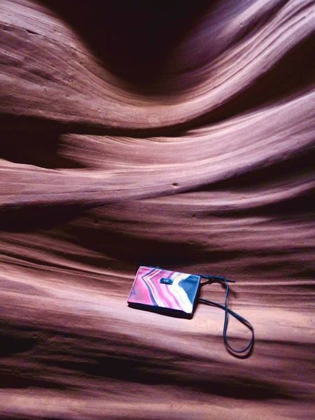 Antelope Canyon inspired pink bag by GLUSH