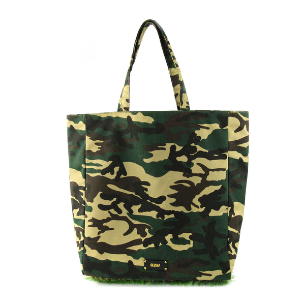 CAMO GRASSY Tote + GRASSY Luggage Tag Set - GLUSH/ - 3