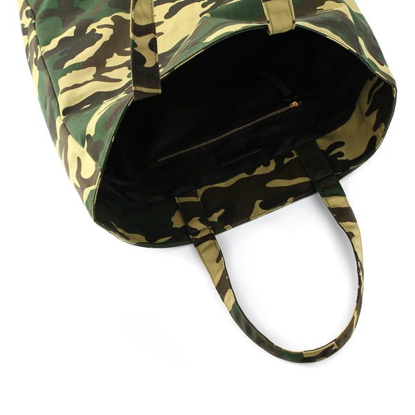 Bag interior of Camouflage Grassy Tote - GLUSH/ - 5