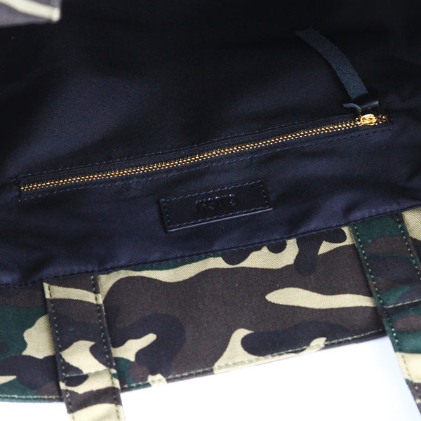 Zipper inside Camouflage Grassy Tote bag - GLUSH/ - 6