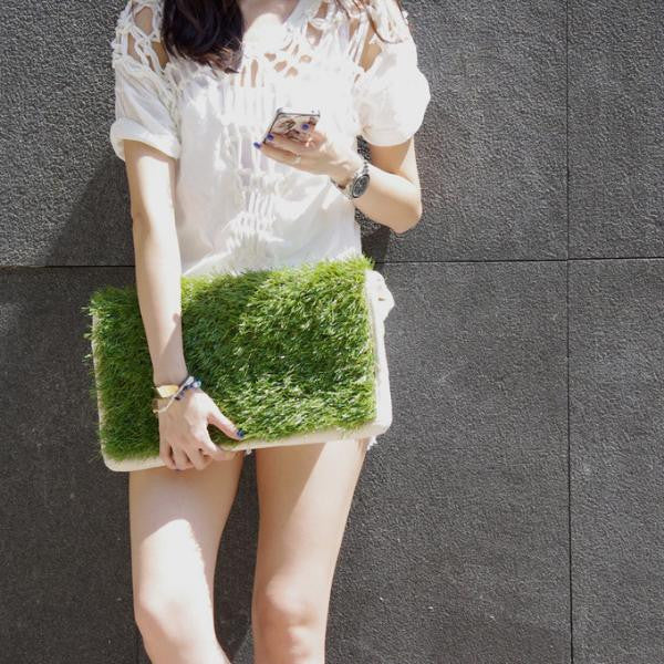 GRASSY LARGE CLUTCH / LAPTOP & DOCUMENT HOLDER - GLUSH/ - 5