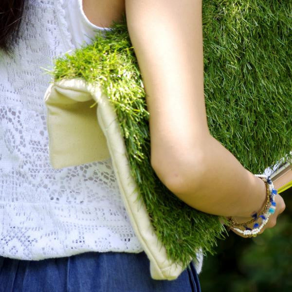 GRASSY LARGE CLUTCH / LAPTOP & DOCUMENT HOLDER - GLUSH/ - 9